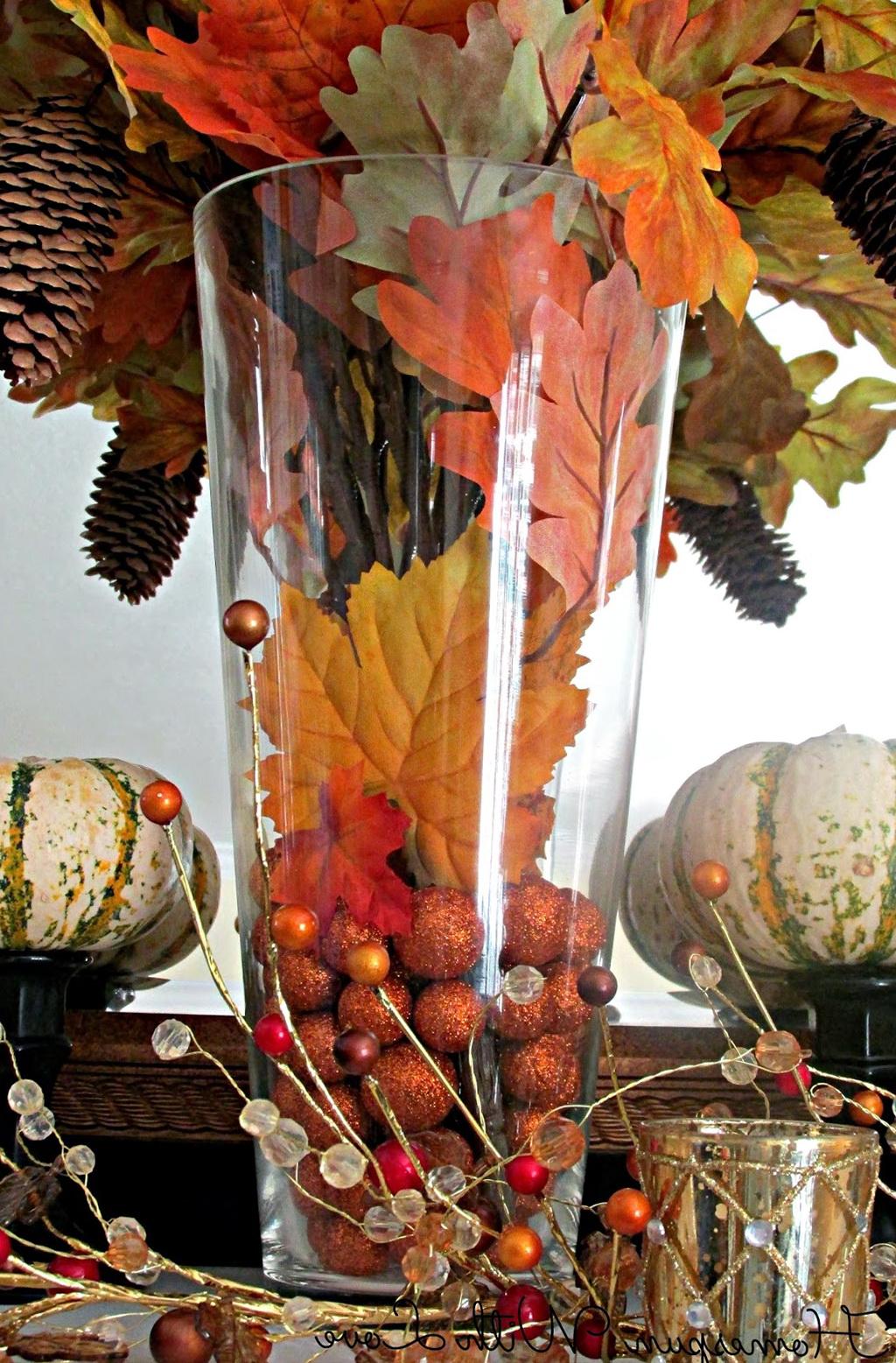 Thanksgiving Vase Filler Ideas