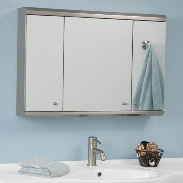 Tri Fold Mirror Medicine Cabinet
