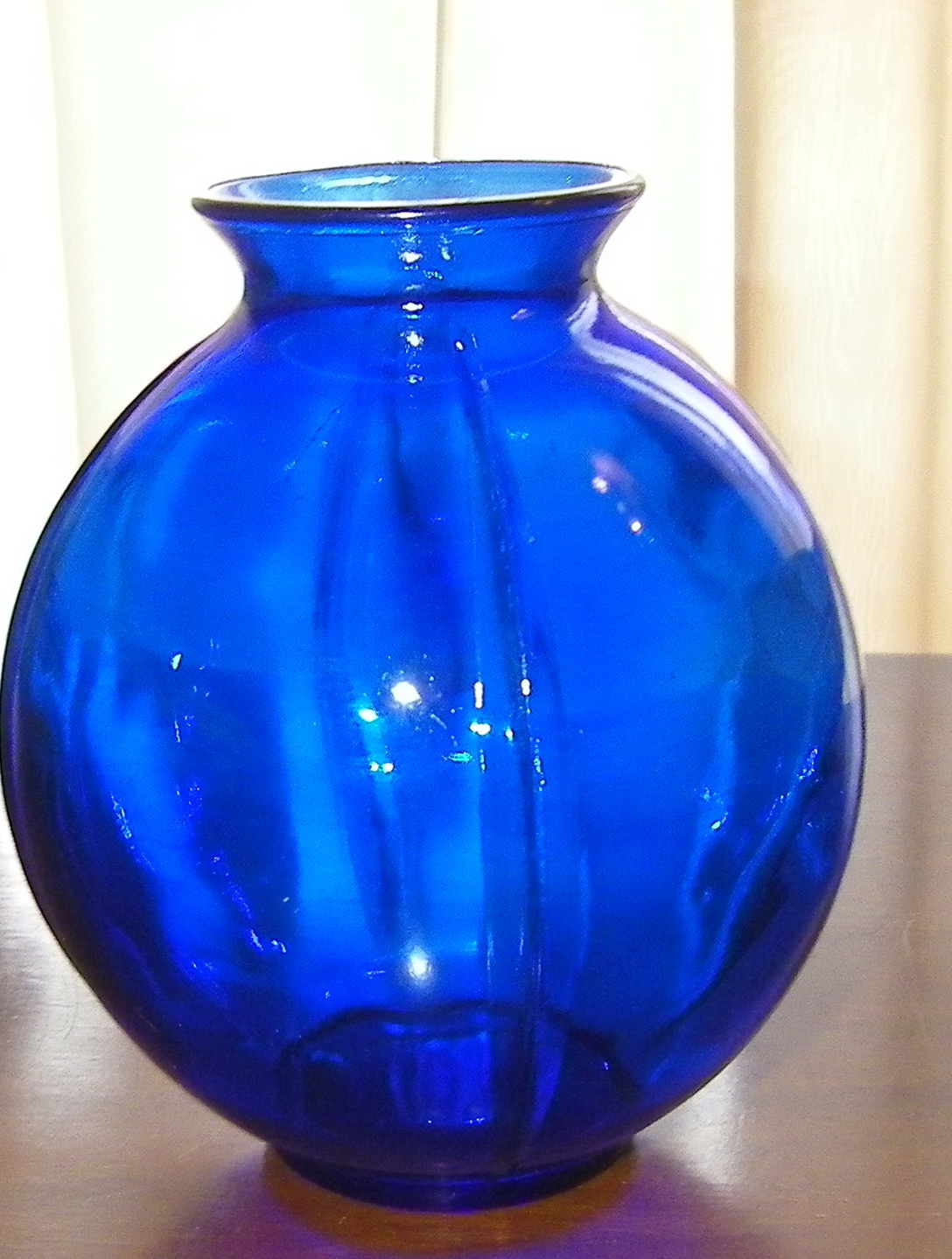 Vintage Blue Glass Vases