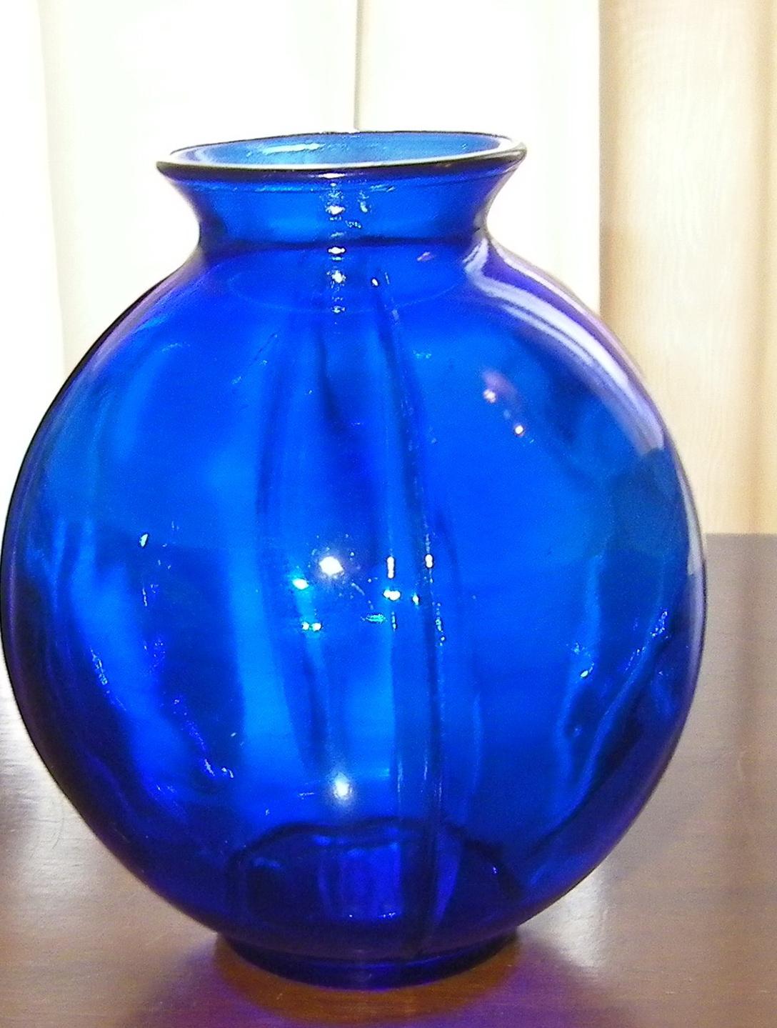 Vintage Blue Glass Vases Home Design Ideas