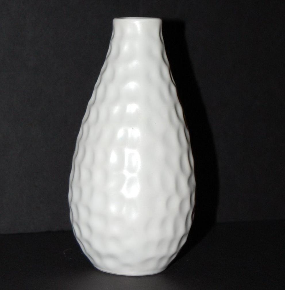Vintage White Ceramic Vase