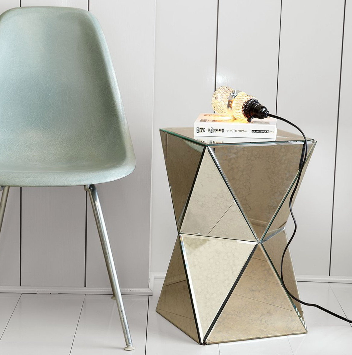 West Elm Mirrored Side Table