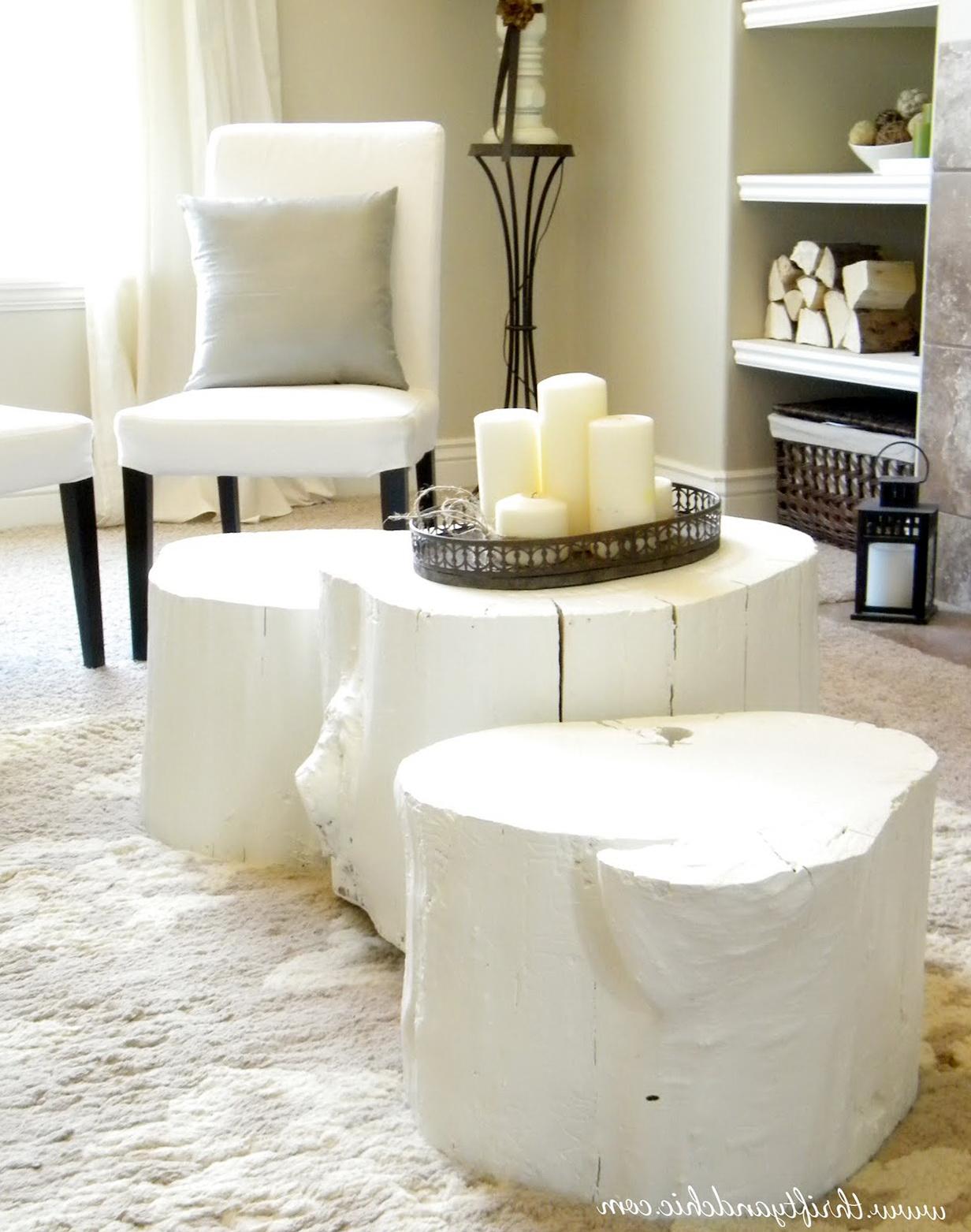 White Tree Stump Side Table Home Design Ideas - White stump side table