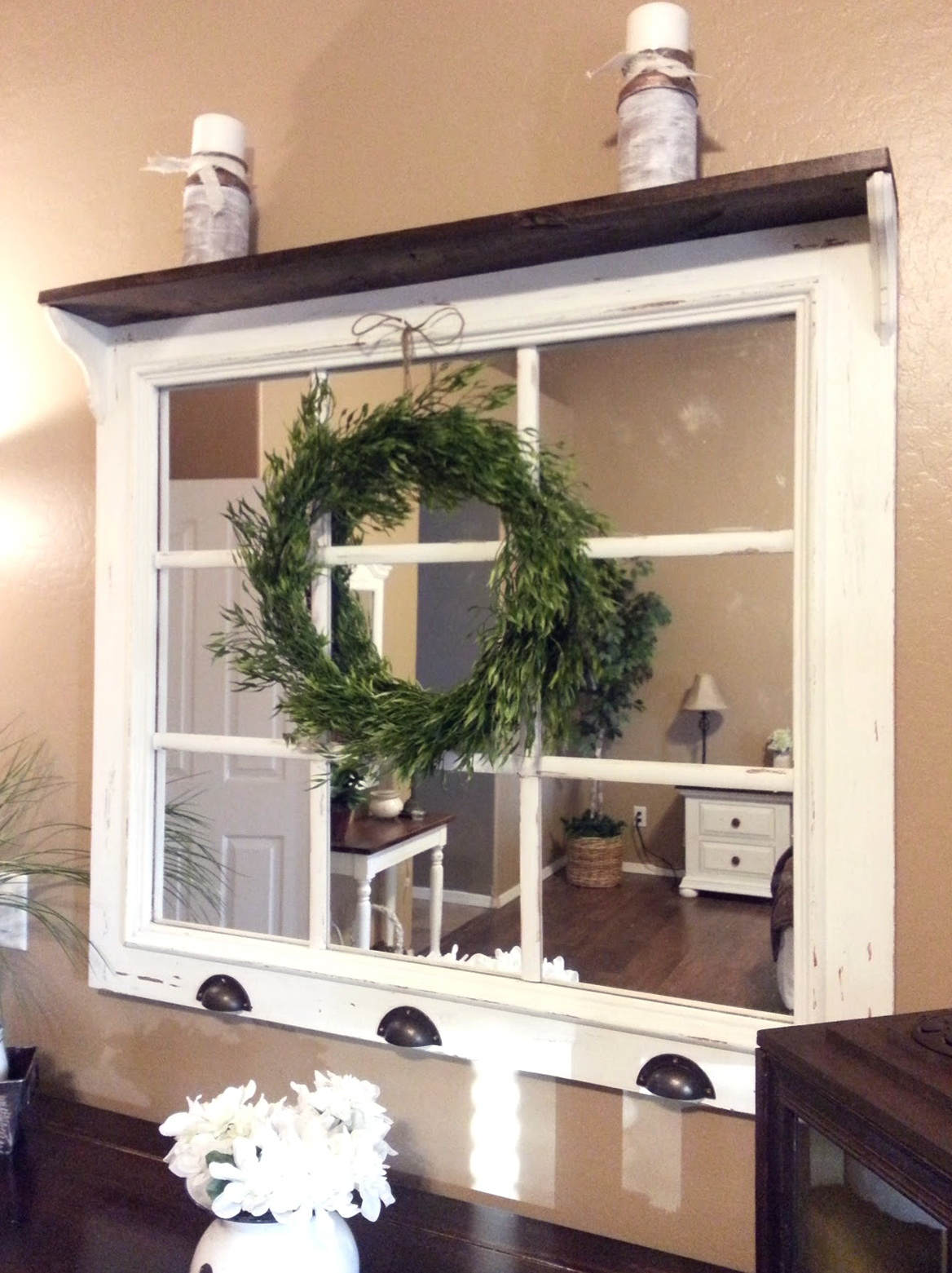 Window Pane Mirror Diy