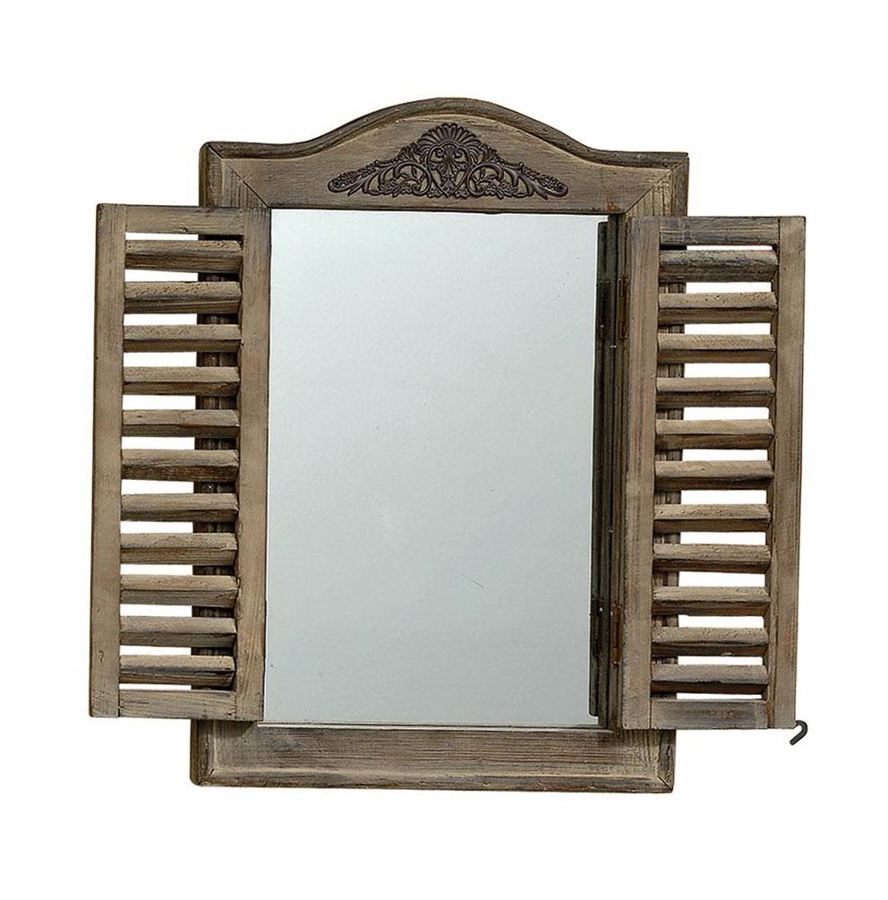 Window pane mirror with shutters home design ideas for Window mirror ideas