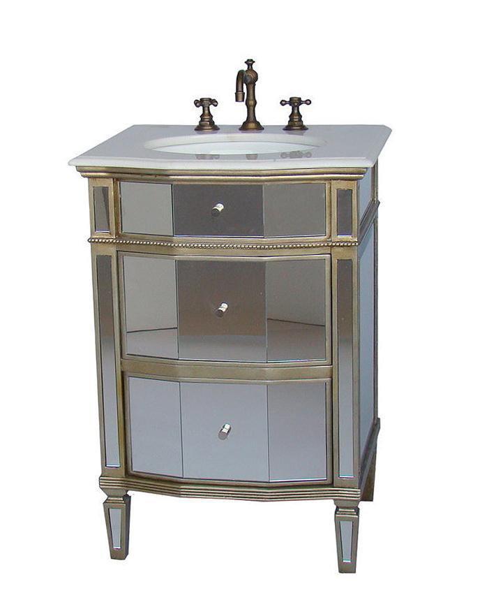 24 Mirrored Bathroom Vanity