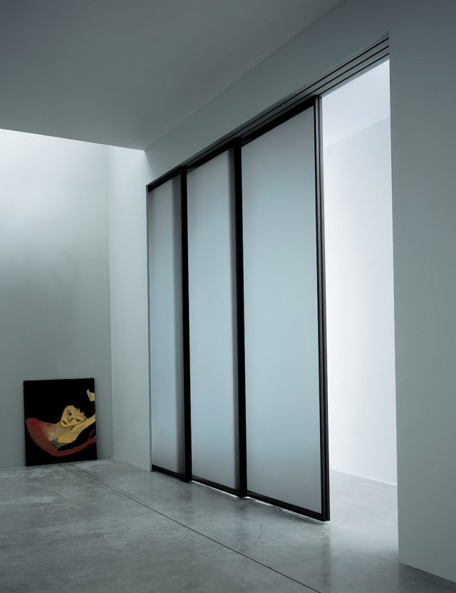 3 Panel Sliding Mirror Closet Doors
