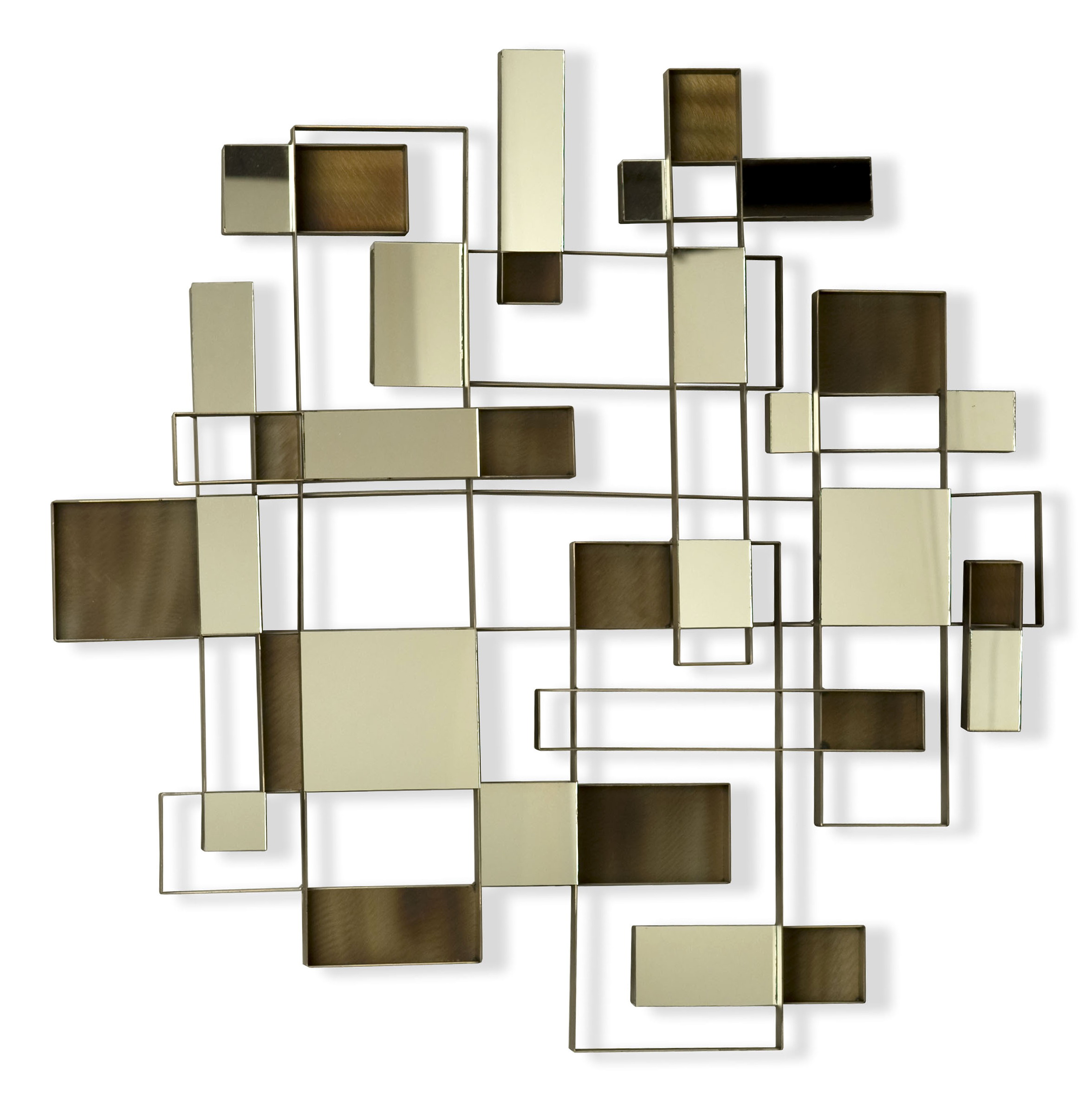 Abstract mirror wall art home design ideas for Designer wall art