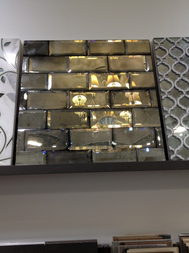 Antiqued Mirrored Subway Tiles