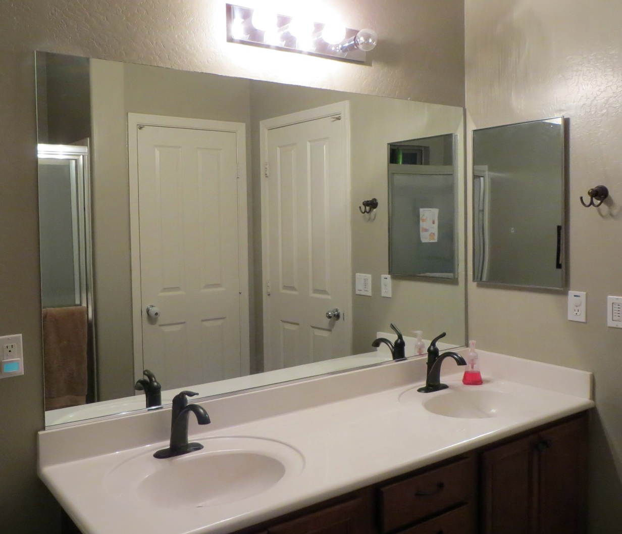 Bathroom mirror frames do it yourself home design ideas Frames for bathroom wall mirrors