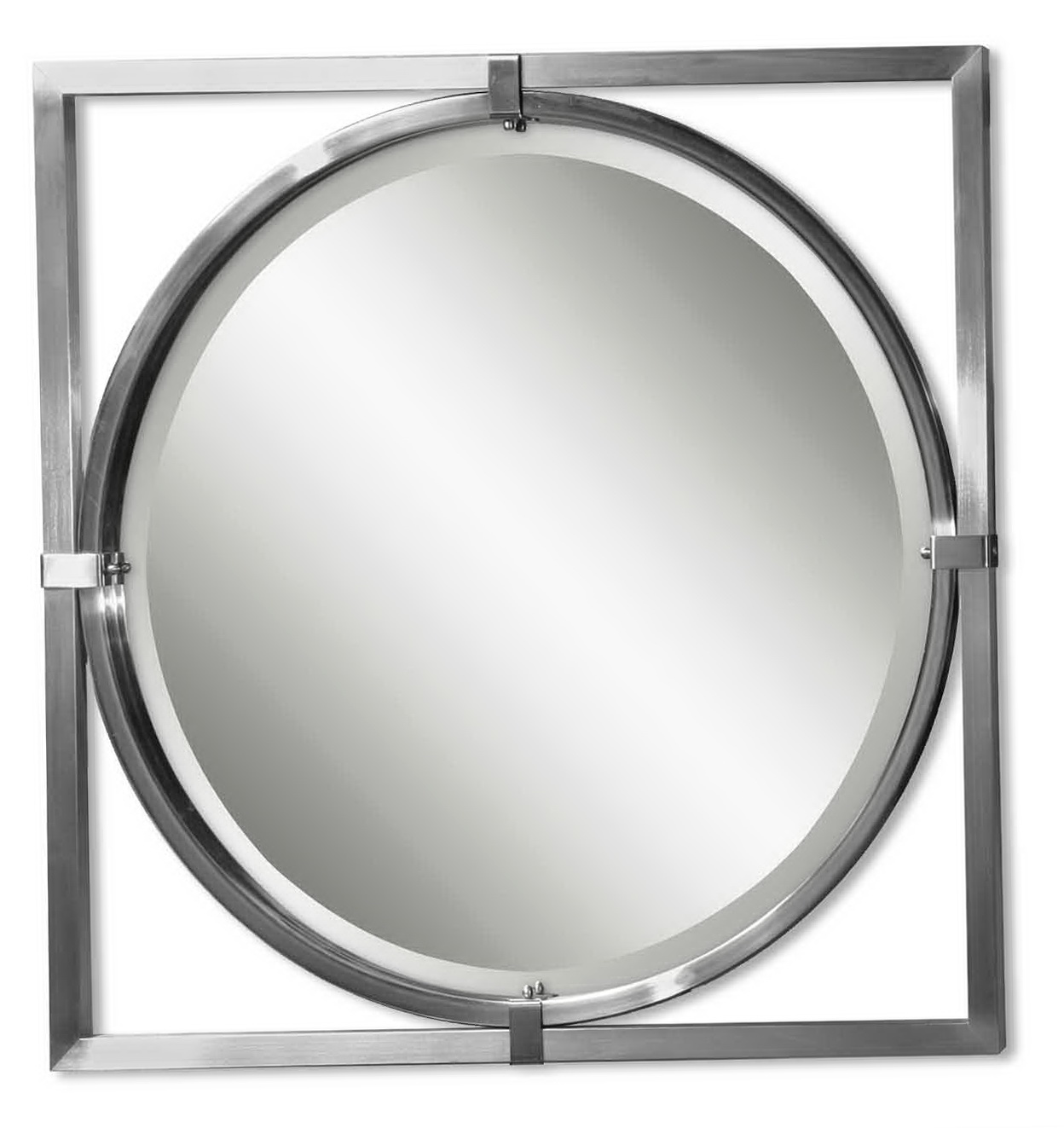 nickel bathroom mirror bathroom wall mirrors brushed nickel home design ideas 13825