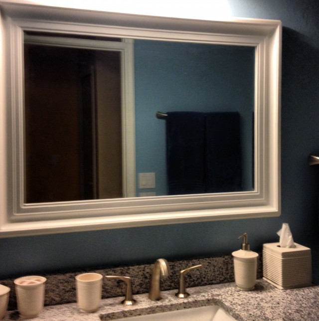 Big White Framed Mirror