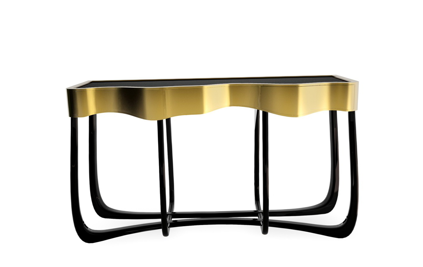 Black And Gold Console Table