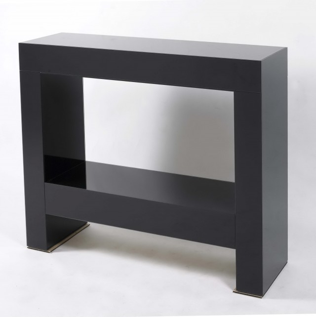 Black Console Table Modern