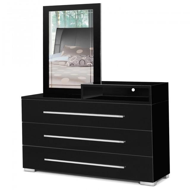 Black Dresser With Mirror Drawers