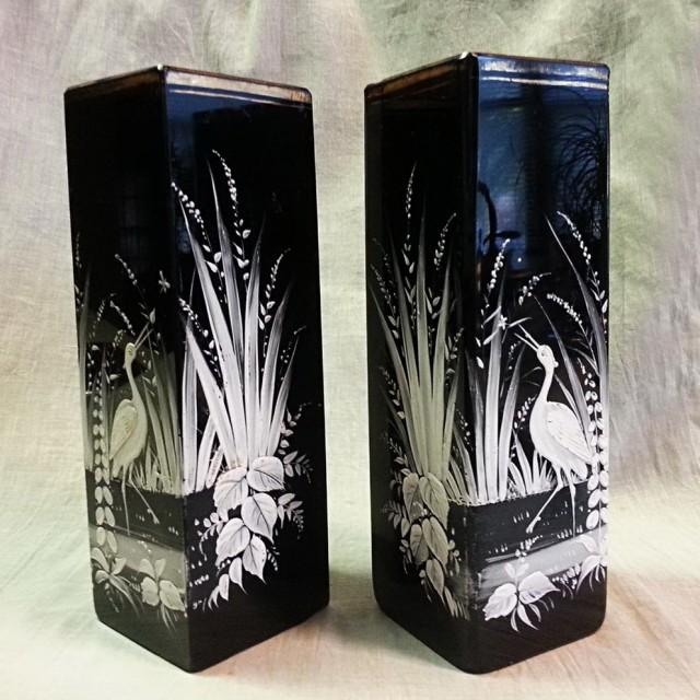 Black Glass Vases For Sale