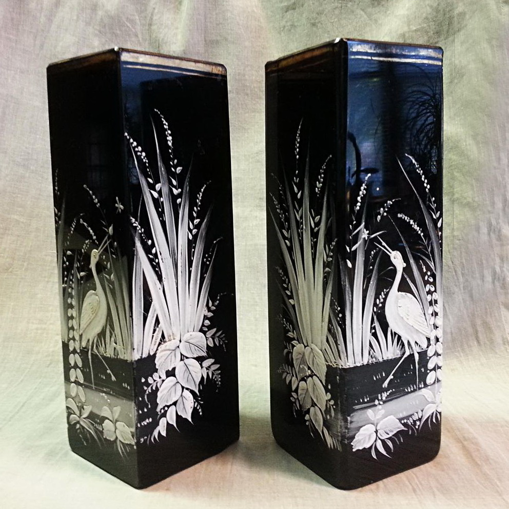 Black Glass Vases For Sale