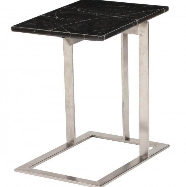 Black Marble Side Table