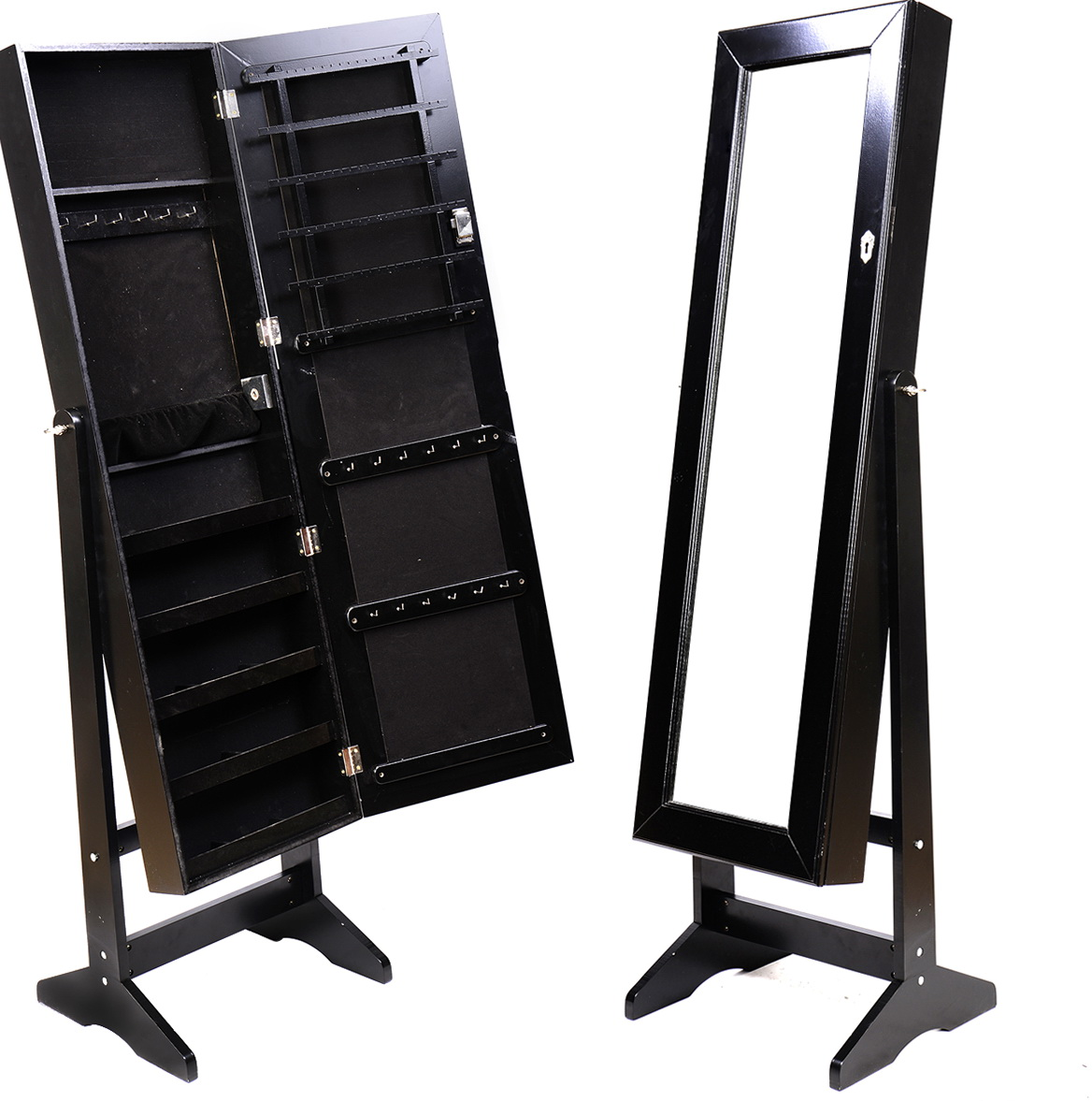 Black Standing Mirror Jewelry Armoire Home Design Ideas