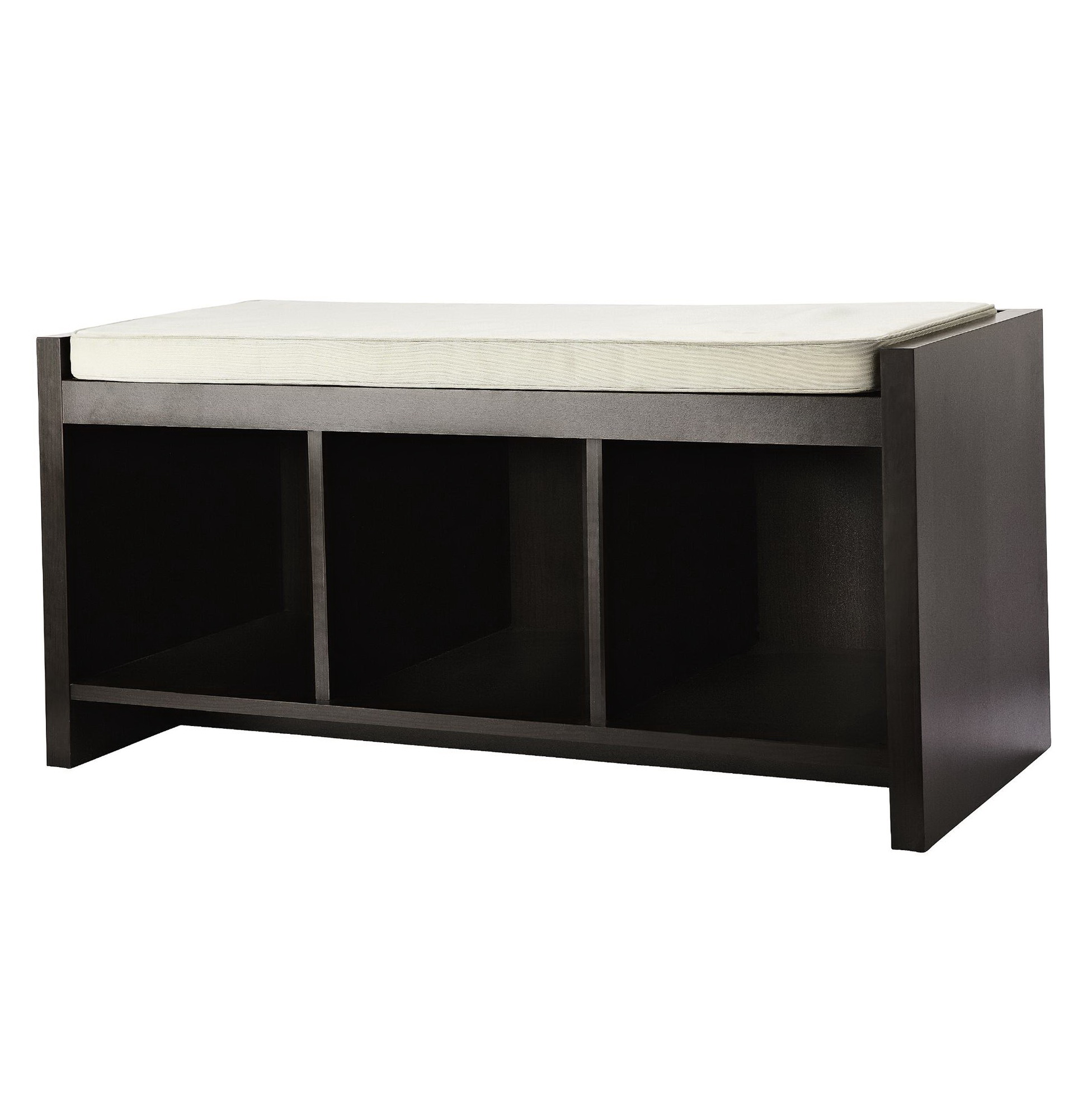 Black storage bench with cushion home design ideas Storage bench with cushion