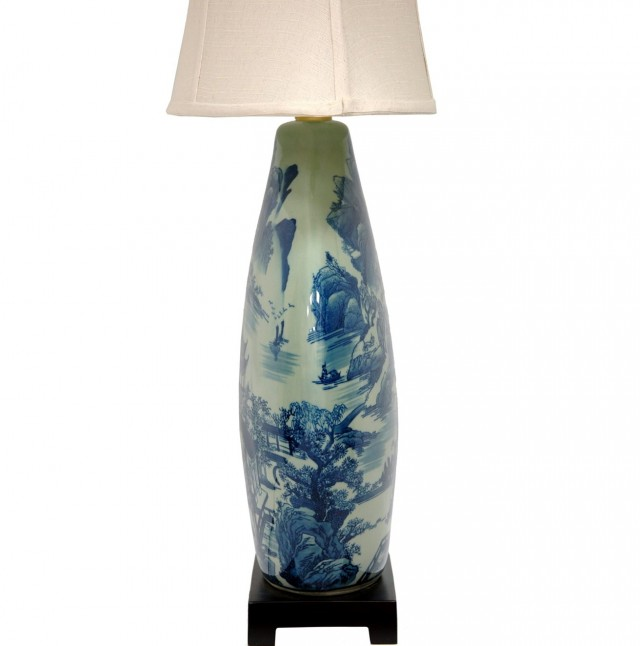 Blue And White Vase Lamp