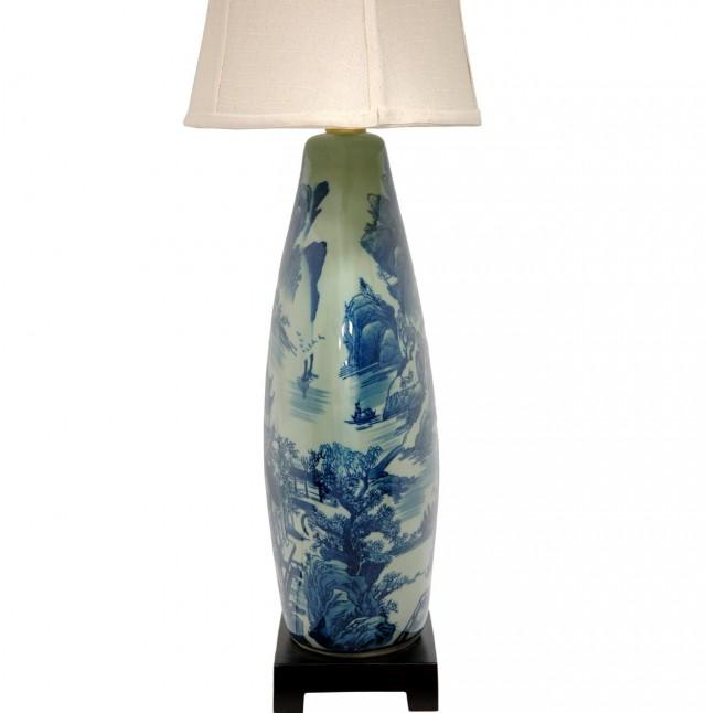Blue And White Vase Lamp