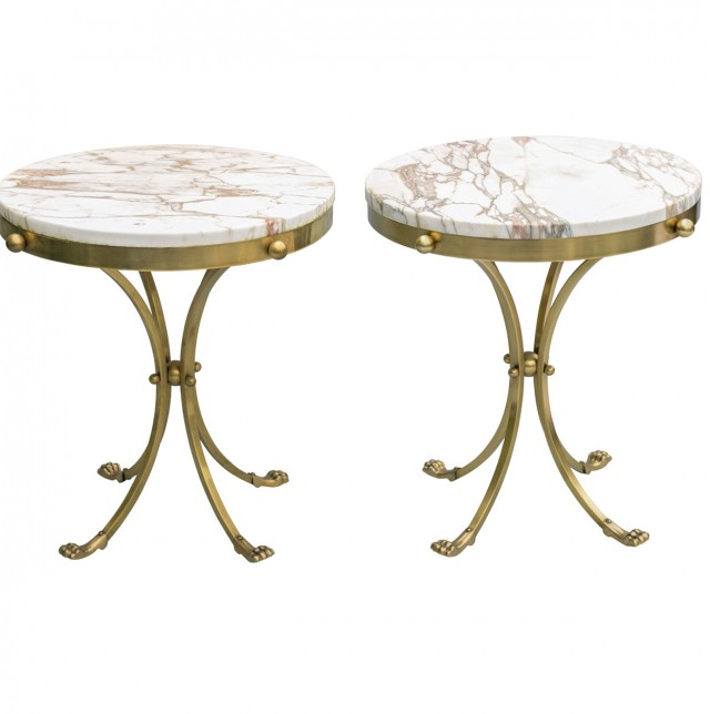 Brass Marble Side Table