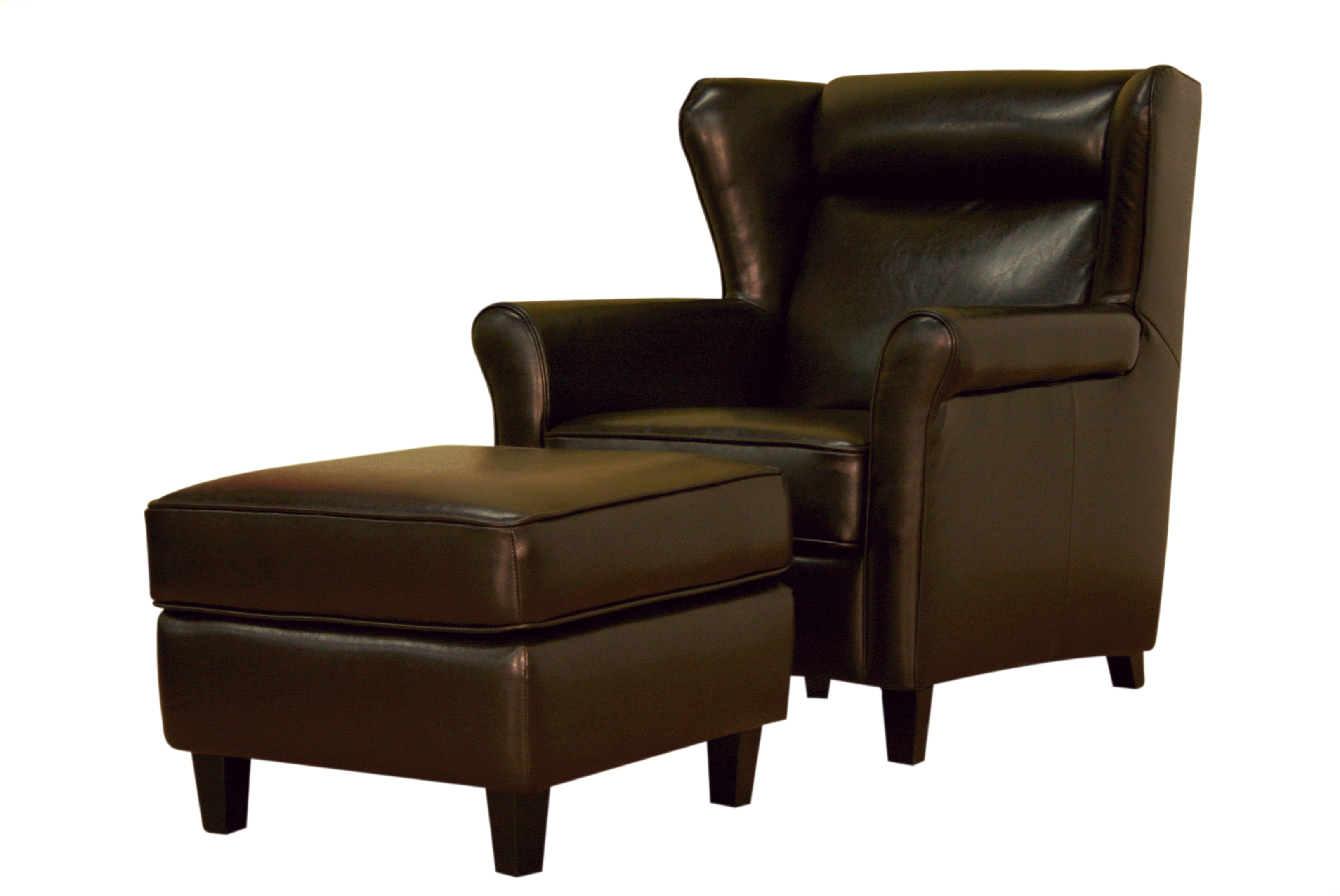 Brown Leather Chair With Ottoman Home Design Ideas