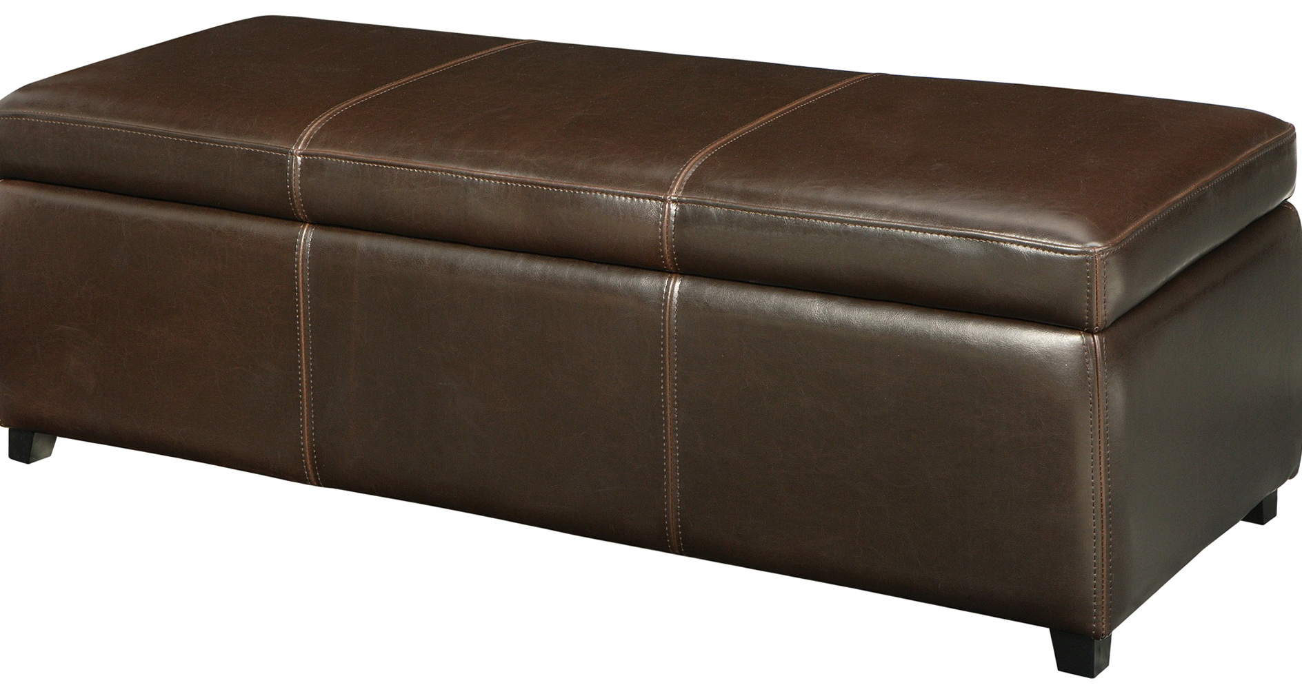 Brown Storage Ottoman Bench Home Design Ideas
