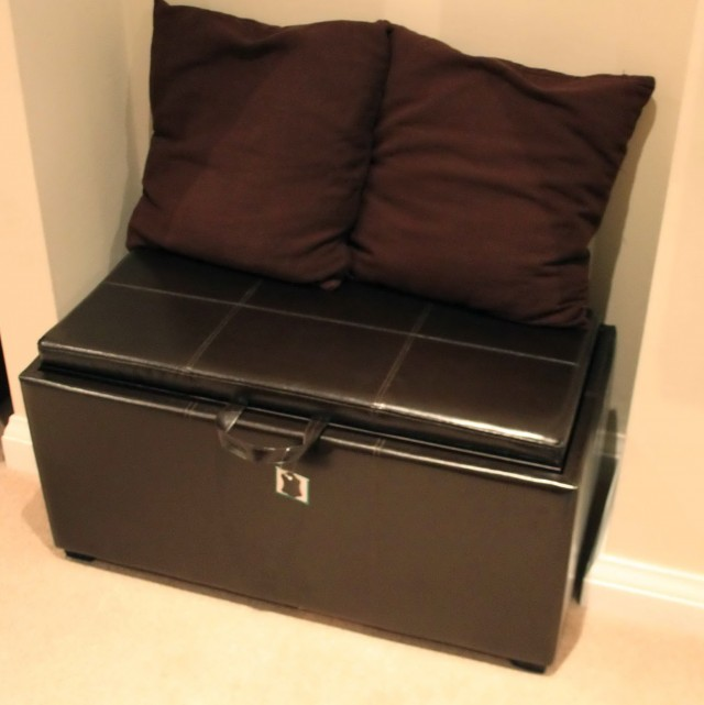 Brown Storage Ottoman Coffee Table