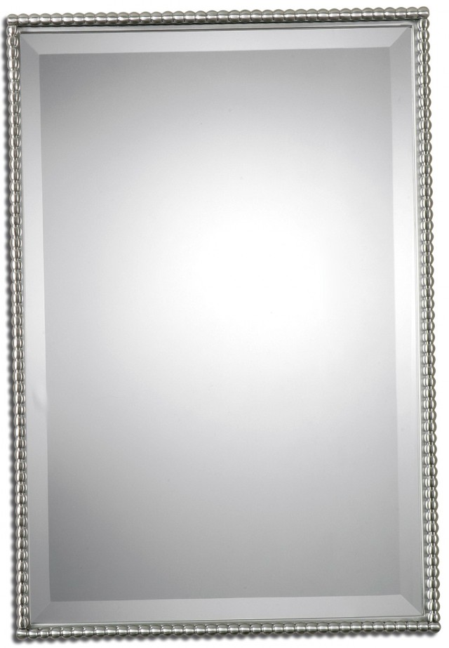 Brushed Nickel Mirror Bathroom