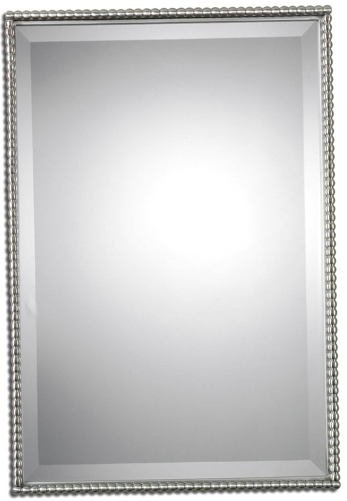 Brushed nickel mirror bathroom home design ideas Bathroom wall mirrors brushed nickel