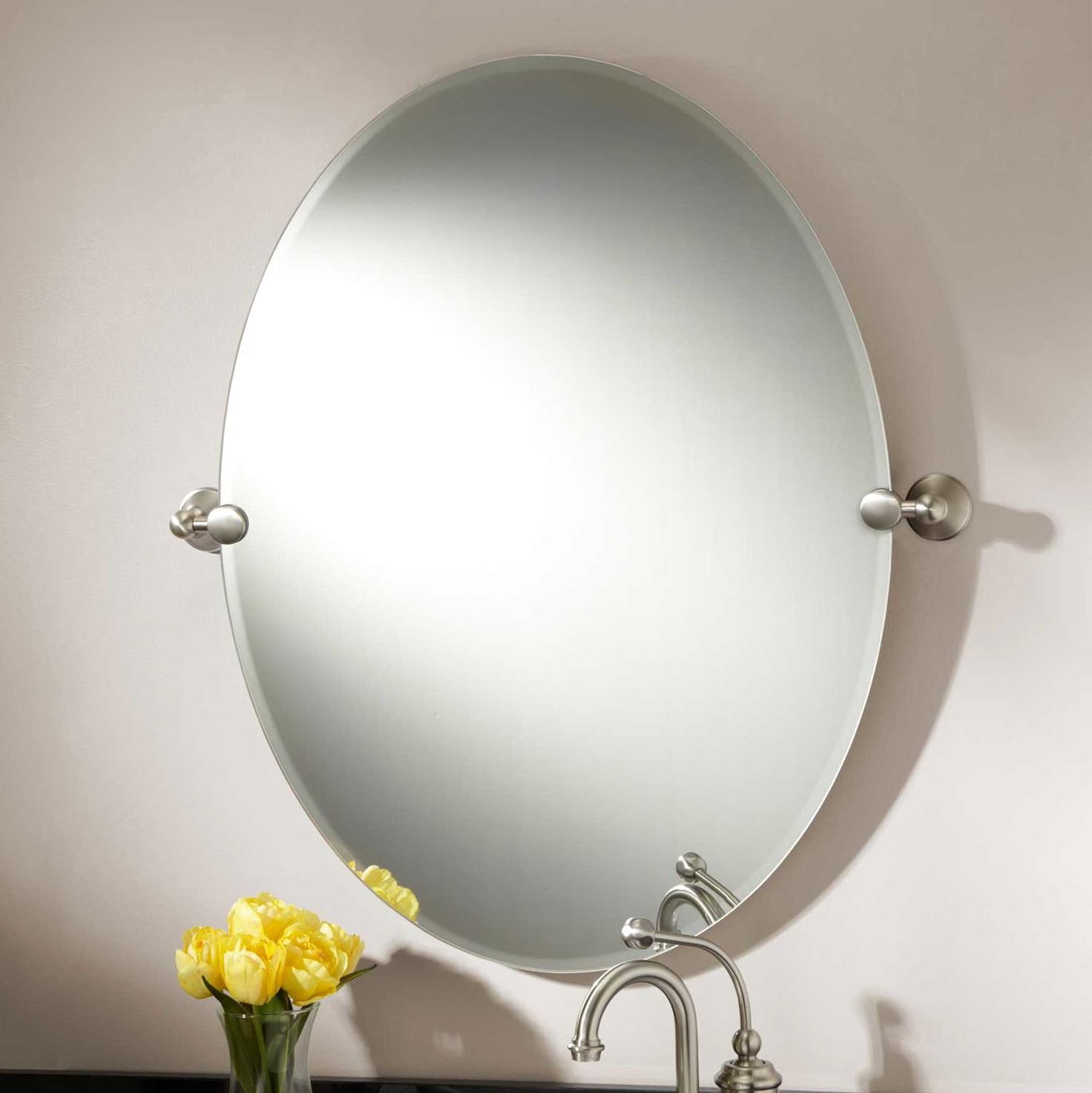 Brushed Nickel Mirror Brackets