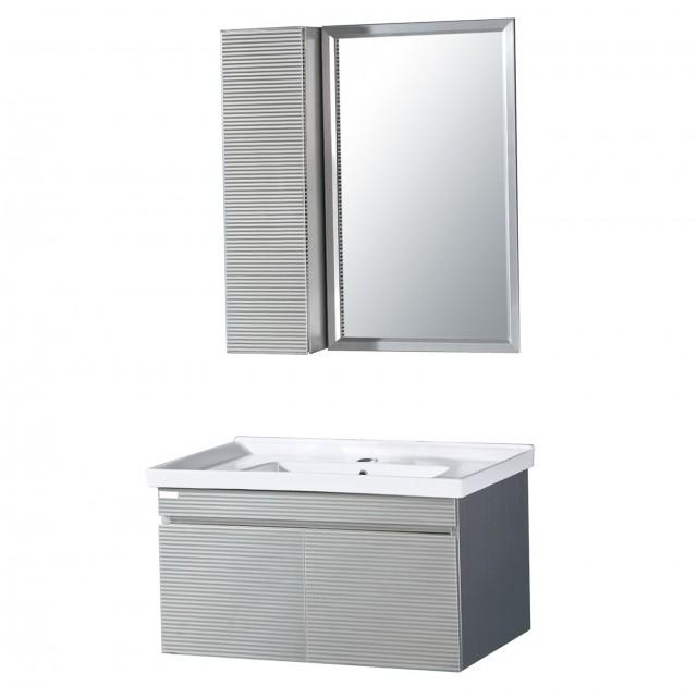 Brushed Nickel Mirror Frame Kit
