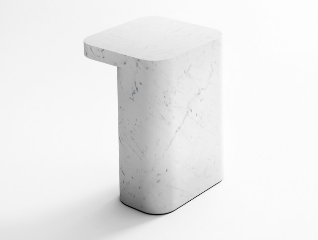 Carrara Marble Side Table