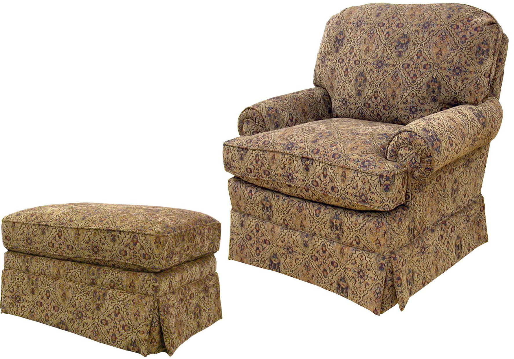 Chair With Ottoman Attached