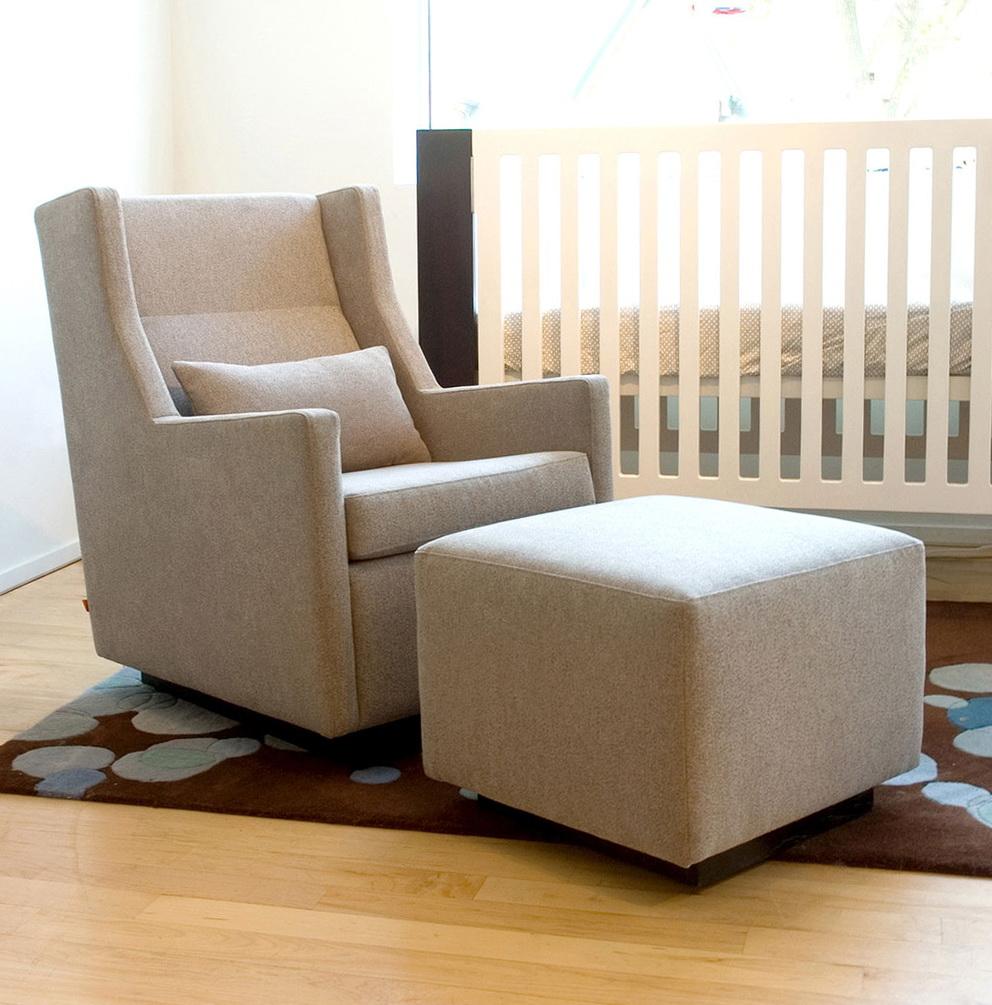 Chair With Ottoman Underneath Home Design Ideas