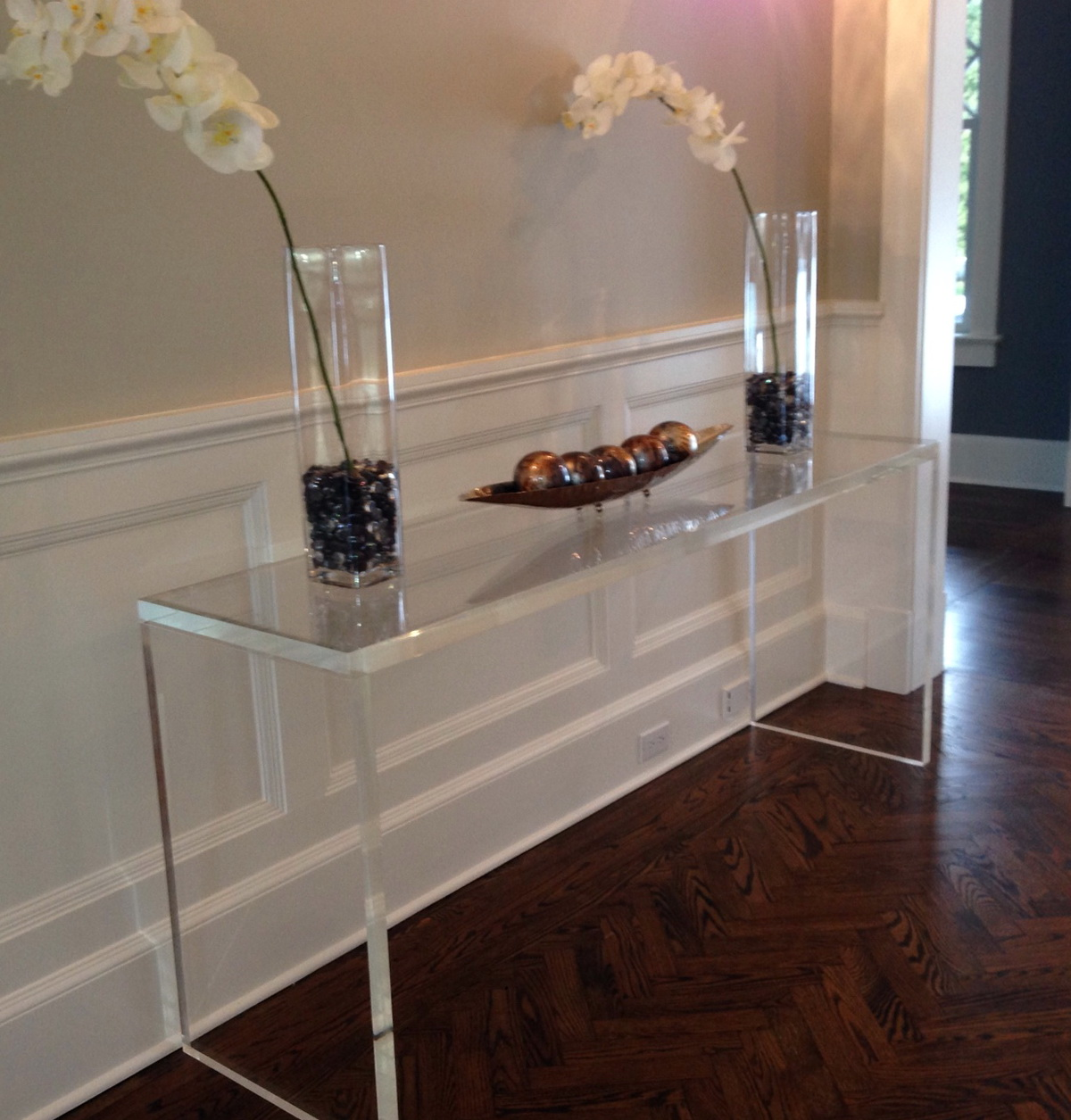 Clear Console Table Plastic Home Design Ideas