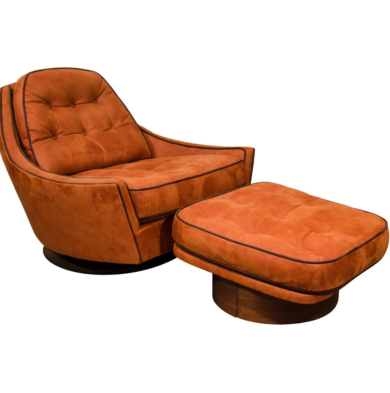 Club Chair And Ottoman
