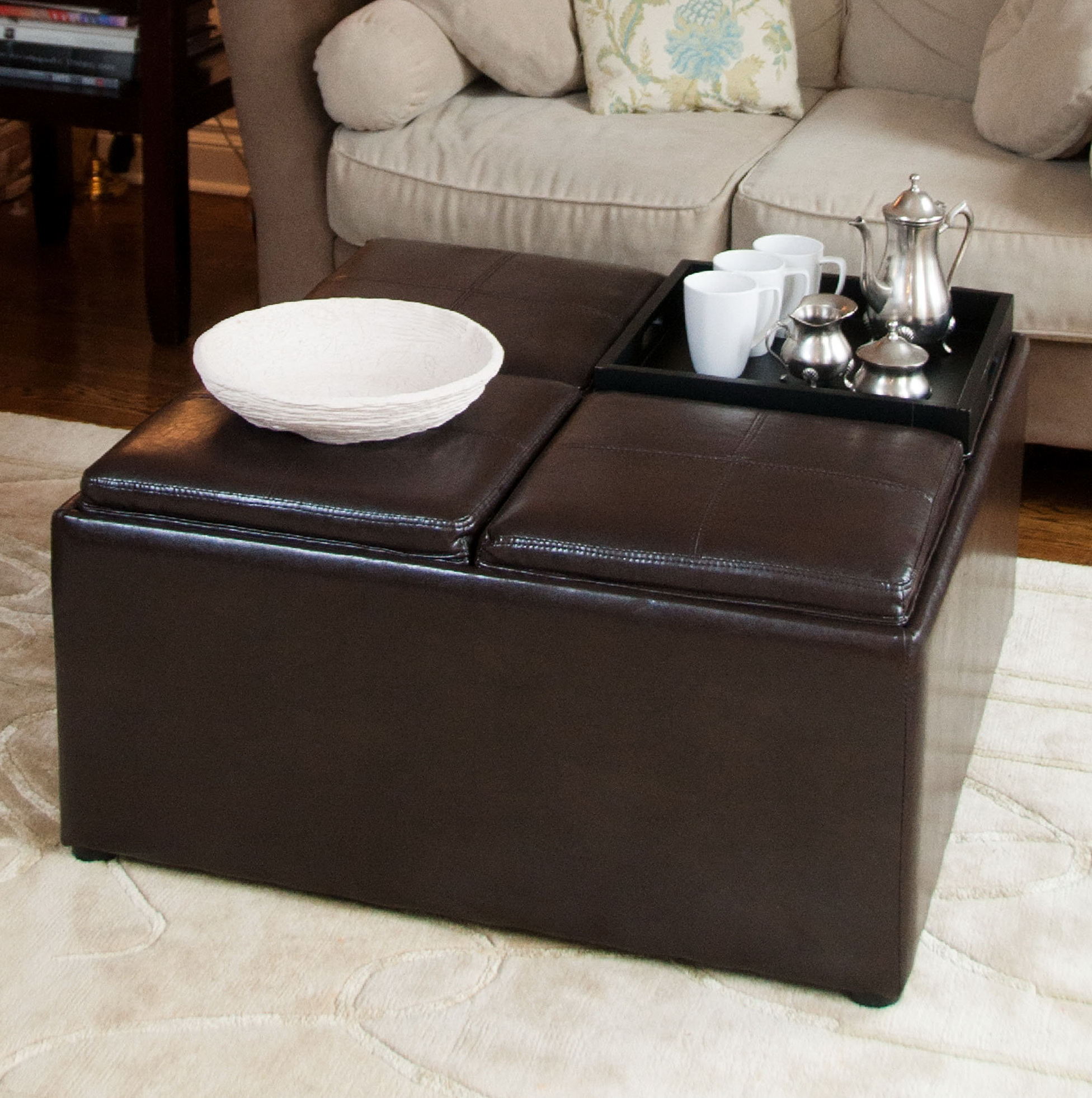 Ottoman Coffee Table Tray Uk: Coffee Table Ottoman Tray