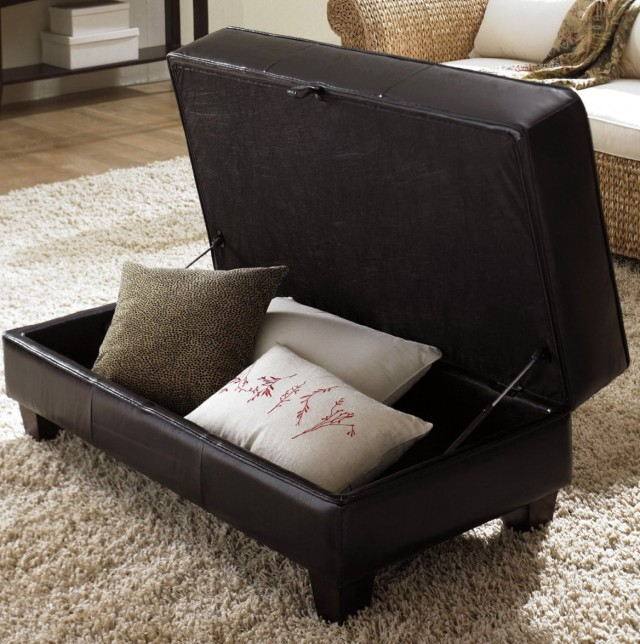 Coffee Table Ottoman With Storage