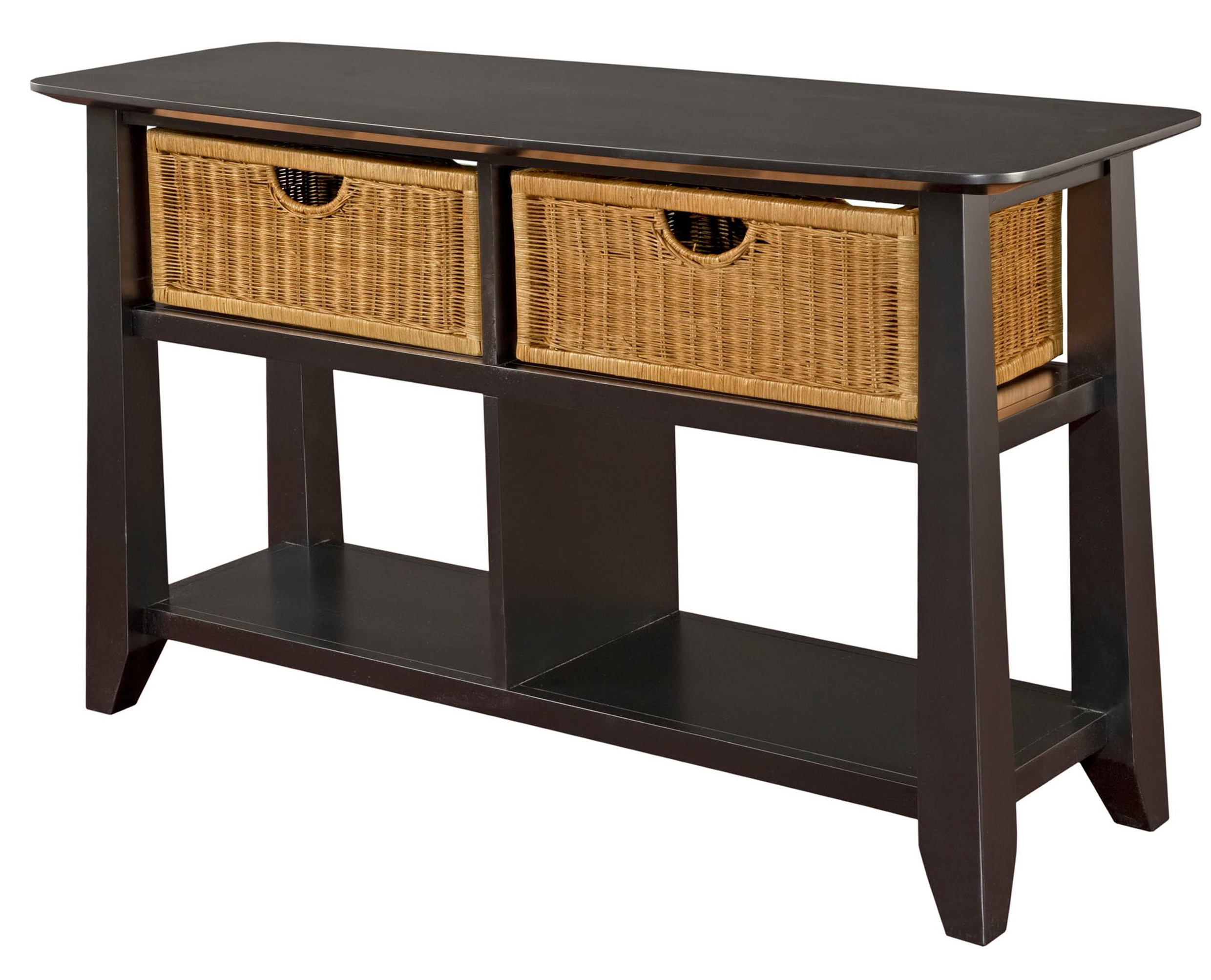 Console Tables With Storage Baskets