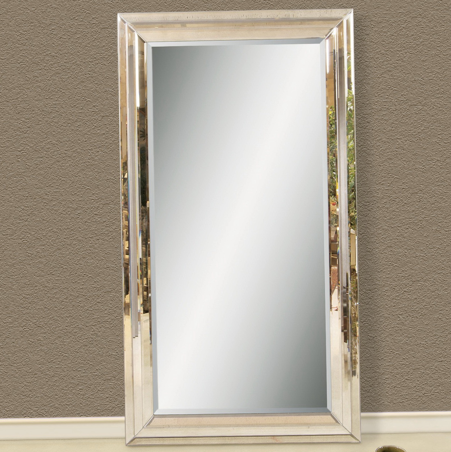 Top 28 floor mirror leaning grey leaning floor mirror for Decorative floor length mirrors