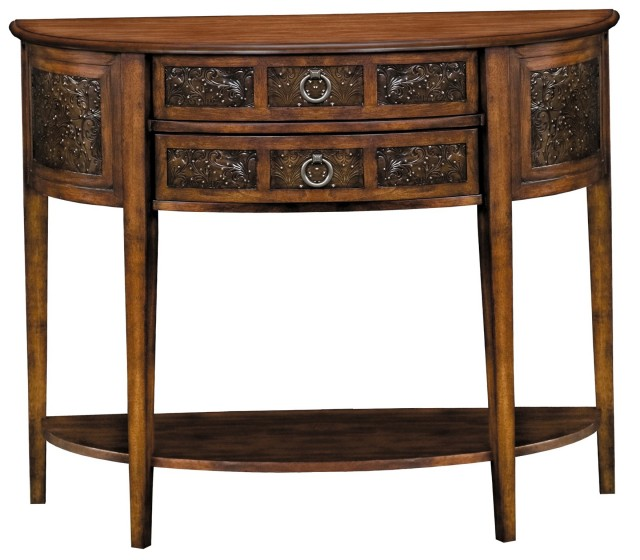 Demilune Console Table With Drawers