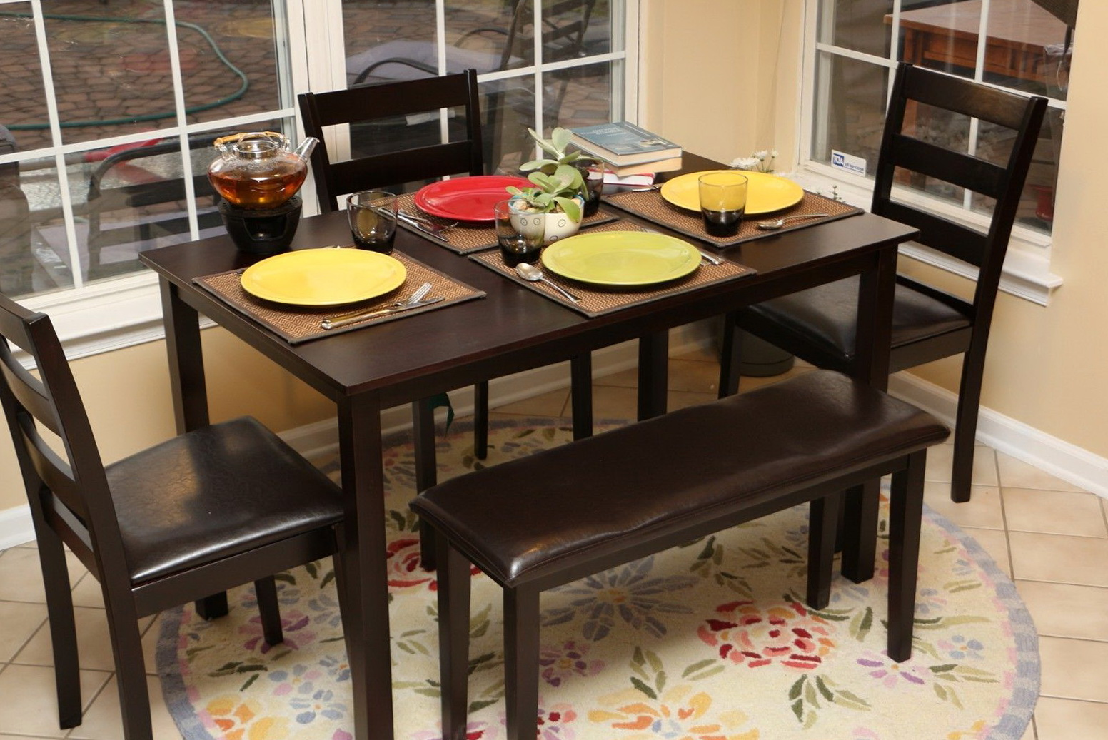 Dining Table With Bench Chairs Home Design Ideas