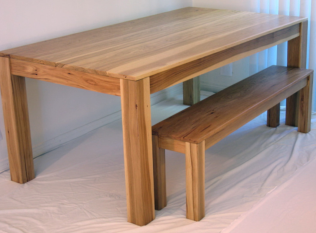 Dining Table With Bench Plans