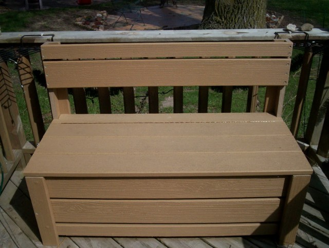 Diy Patio Storage Bench