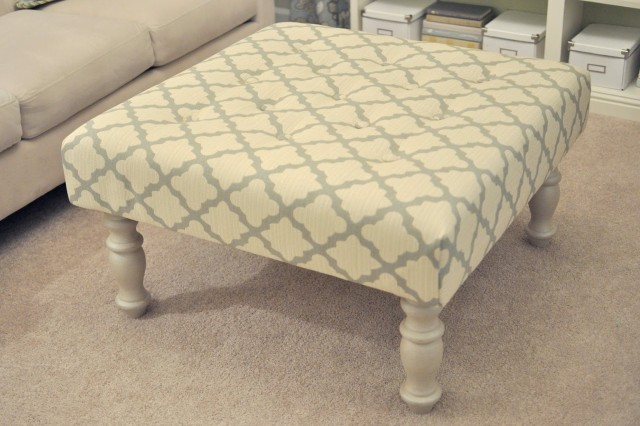 Diy Upholstered Ottoman Coffee Table