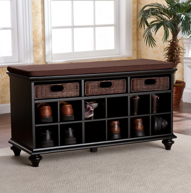 Entry Bench With Shoe Storage