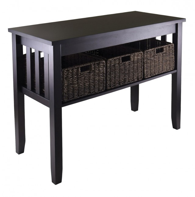 Entryway Console Table With Storage